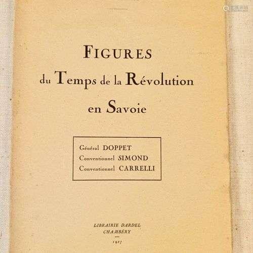 VERMALE (François). Figures du Temps de la Révolution en Sav...
