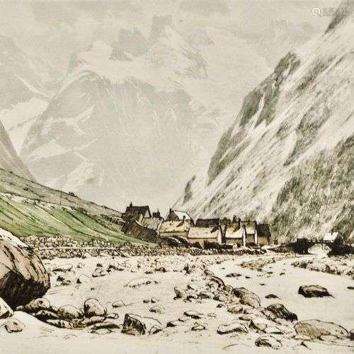 DREVET (Joanny). Les Ecrins et le Hameau des Etages (Vallée ...