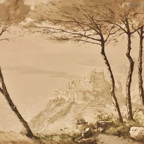 DREVET (Joanny) - Sous les Pins d'Eze - Becc. 200, s.d. ; en...