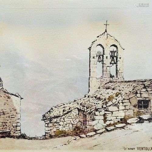 DREVET (Joanny). Mont Ventoux et Chapelle de Suzette. Becc. ...