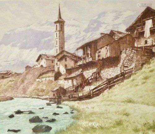 DREVET (Joanny) - L'Isère à Tignes, Becc. 221, s.d.. encadré...