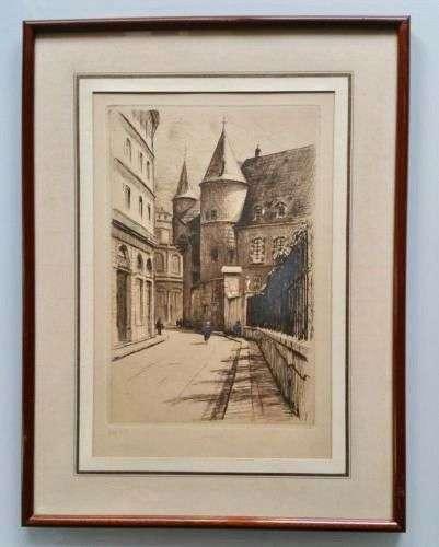 DREVET (Joanny). Grenoble. Rue Hector Berlioz vers l'Hôtel d...
