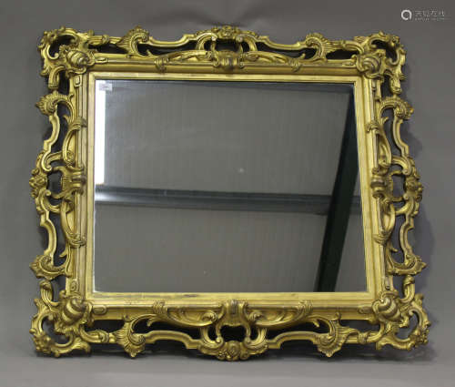 A mid/late Victorian carved gilt wood and gesso framed wall ...