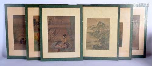 Chinese School (18th/19th Century) 6 x Watercolours, Landsca...