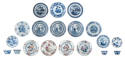 A collection of teacups and saucers, Kangxi and