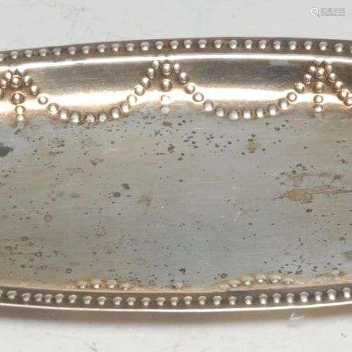 Plateau à cuillères ovale en argent irlandais de style Georg...