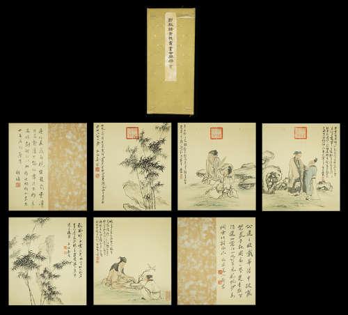 A Chinese Painting Zheng Banqiao Album Mark Huang Shen