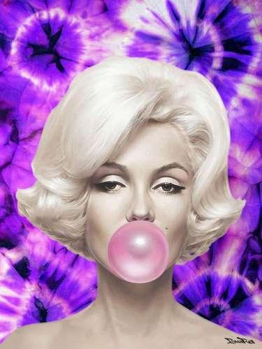 "BrainRoy (né en 1980) ""Marilyn Ballon, Tie and dye, Pur..."