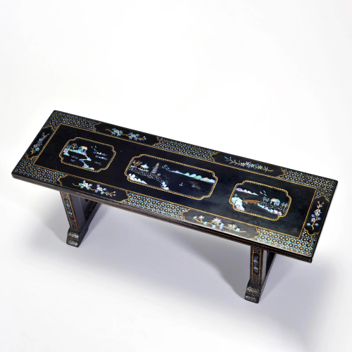 A Mother of Pearl Inlaid Long Table Qing Dynasty