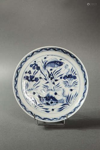 青花瓷碗(底部有宣德款识)