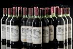 12 bouteilles de Pomerol Château l'Angélus 1962, expédié en cercles par Philippe Serrande & Cie nég. à Bordeaux, 75 cl