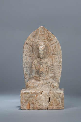 Chinese carved stone Buddha.
