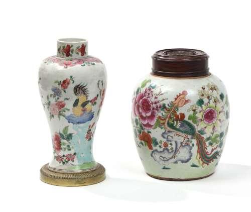 Chine, XVIIIe siècleLot comprenant un pot à gin...