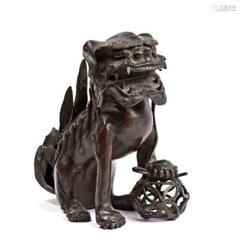 Japon, début XXe siècleSujet en bronze représen...