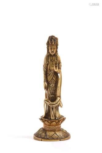 Japon, vers 1900Okimono en ivoire* représentant...