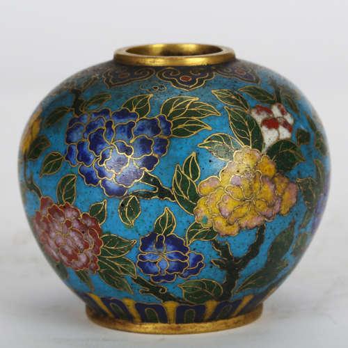 CHINESE CLOISONNE JAR
