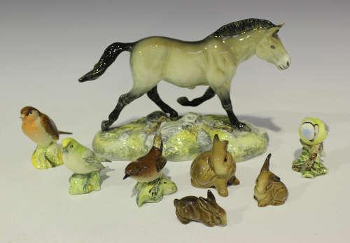 A Beswick Przewalskis Wild Horse model, black printed 'Beswick England 2005' to base, length 24.3cm,