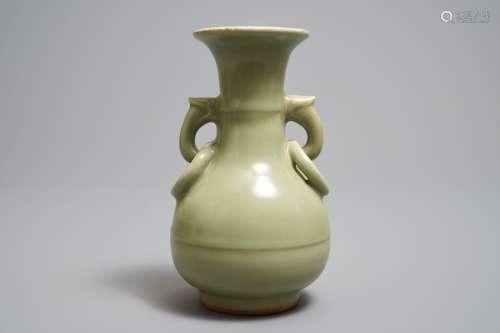 A Chinese Longquan celadon vase, Ming
