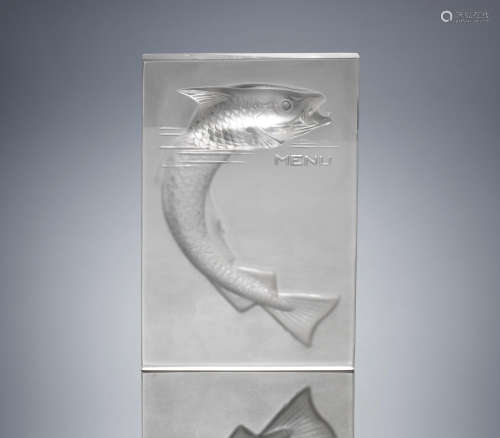 A 'Poisson' Menu, designed in 1931 René Lalique (French, 1860-1945)