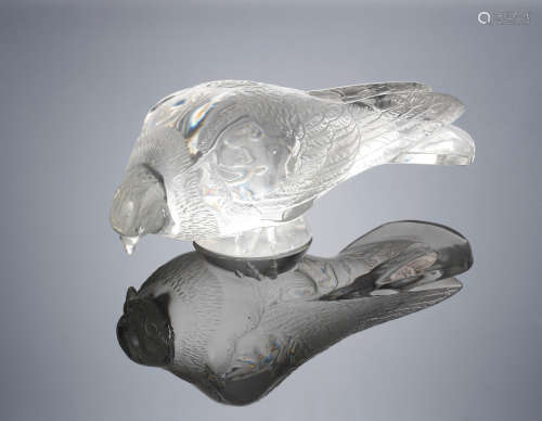 A Post-War 'Pigeon Verviers' Decorative Motif, designed in 1932 René Lalique (French, 1860-1945)