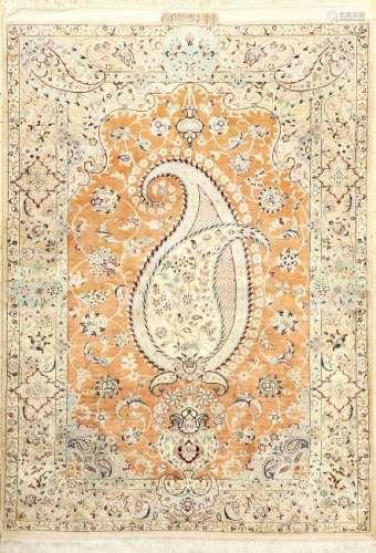 Very Fine & Rare Pure Silk Nain 'Ali Ahmadian'Rug (4 LA