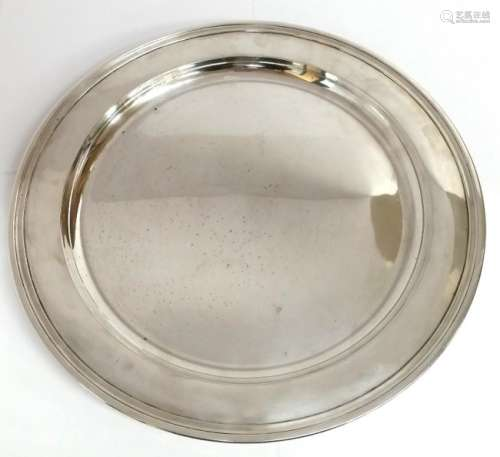 Tiffany & Co Makers Sterling Silver 13in Round Tray