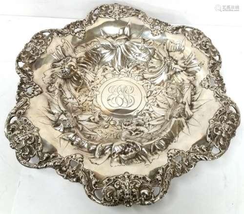 Antique Gorham Sterling Silver Repousse Centerpiece