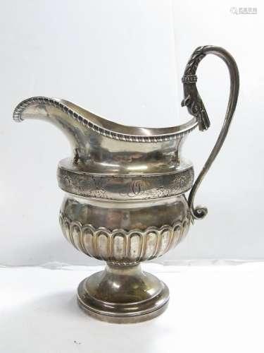 1810 AE Warner Sterling Silver Pitcher Snake Dog Handle