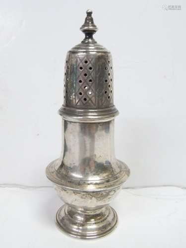 Early American Coin Silver Muffineer Sugar Shaker
