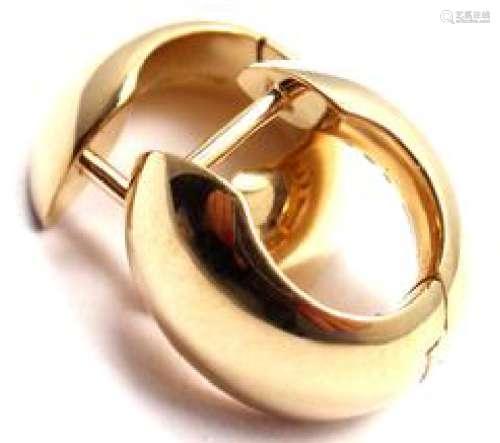 George Jensen 18k Yellow Gold Hoop Earrings
