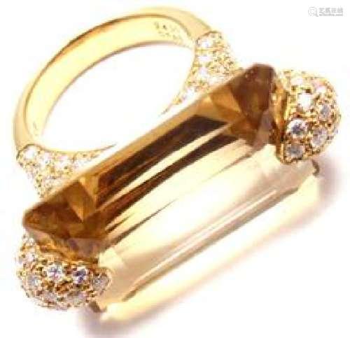 Estate 18k Yellow Gold 1.85ct Diamond Large 24ct