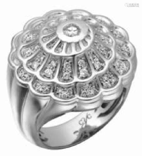 Carrera Y Carrera Afrodita 18k White Gold Diamond Ring