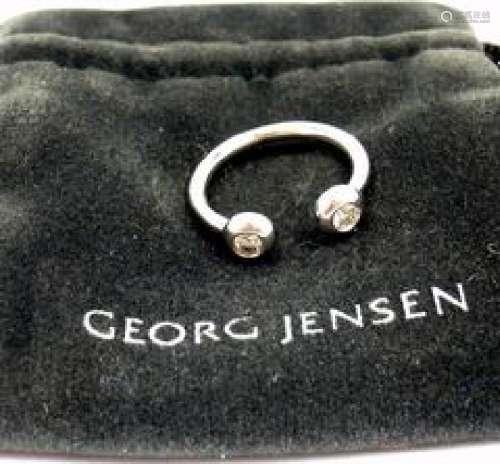 Rare Georg Jensen Aurora 18K White Gold Diamond Ring