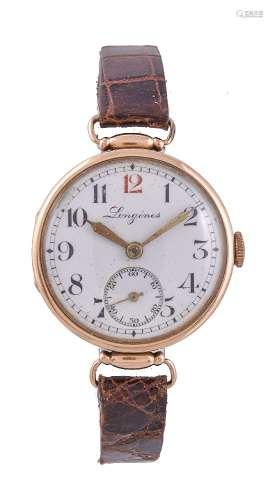 Longines, 14 carat gold wrist watch
