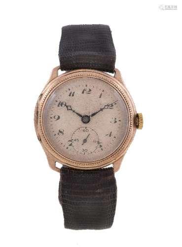 Tavannes Watch Co., a 9 carat gold wristwatch