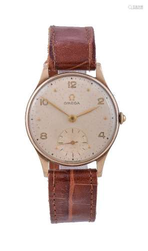 Omega, 9 carat gold wrist watch