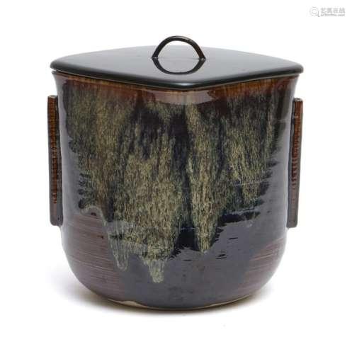 Récipient rafraîchisseur d'eau (mizusachi) en céra…