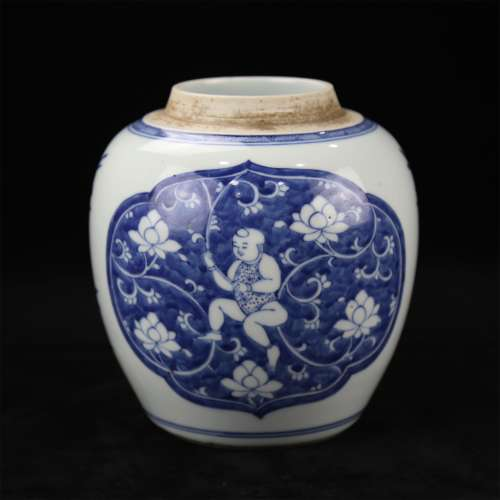 A Chinese Blue and White Porcelain Jar