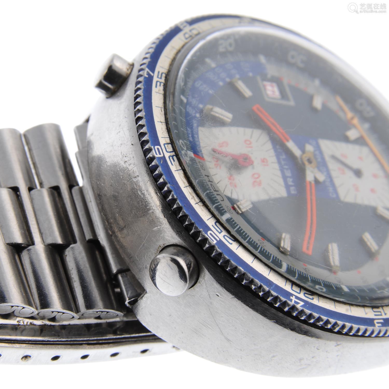 BREITLING - a gentleman's Bullhead Pupitre chronograph bracelet watch.