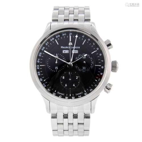 MAURICE LACROIX - a gentleman's Les Classiques chronograph bracelet watch.