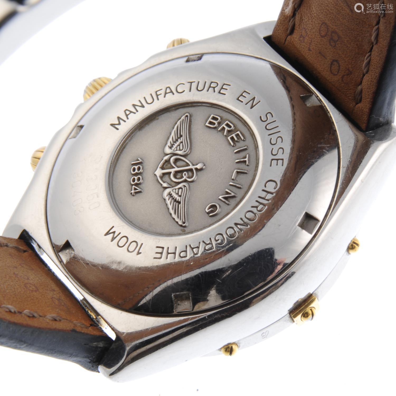 BREITLING - a gentleman's Chronomat Vitesse chronograph wrist watch.