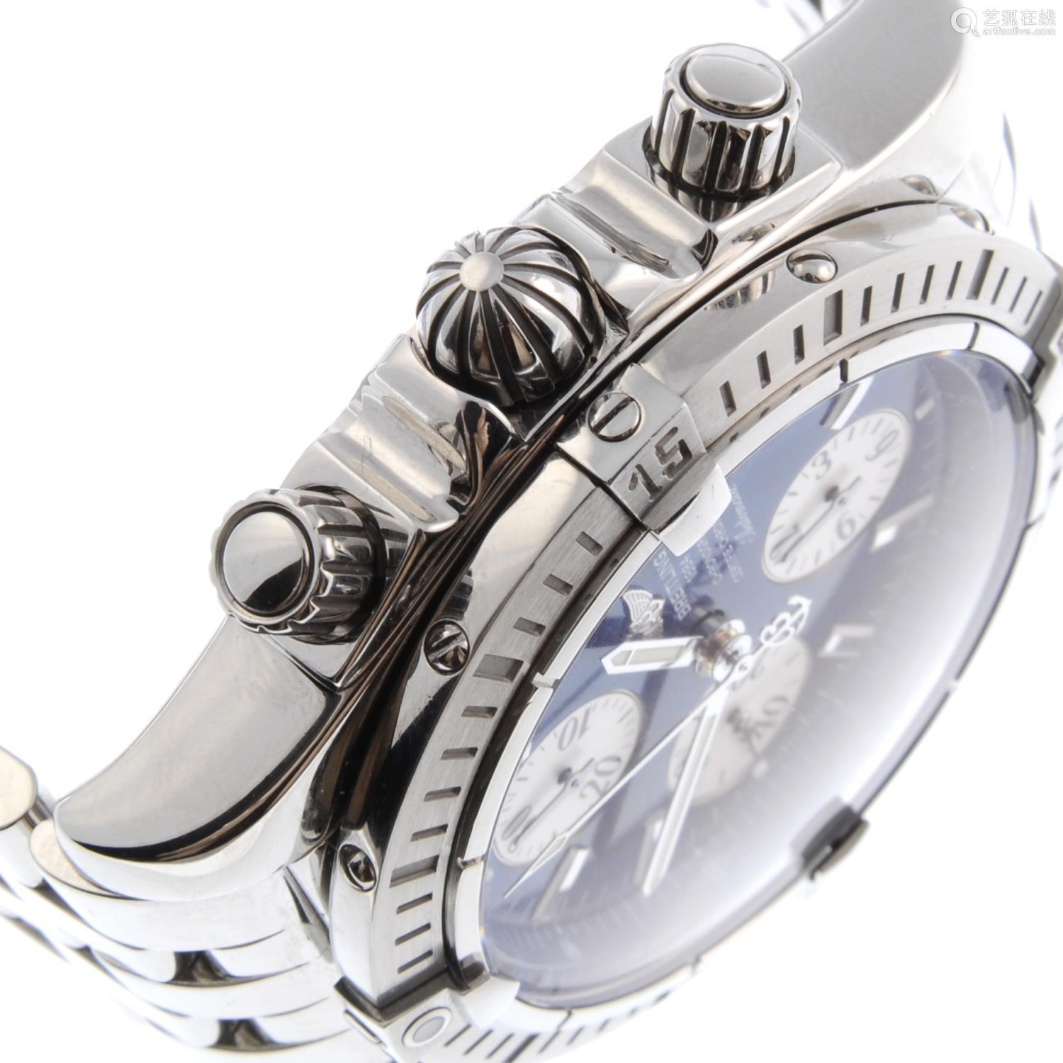 BREITLING - a gentleman's Chronomat Evolution chronograph bracelet watch.