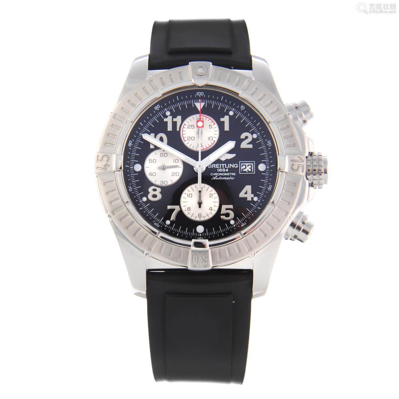 BREITLING - a gentleman's Aeromarine Super Avenger chronograph wrist watch.