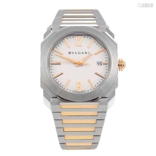 BULGARI - a gentleman's Octo Solotempo bracelet watch.