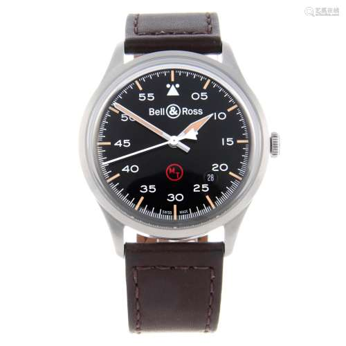 CURRENT MODEL: BELL & ROSS - a gentleman's Vintage BRV1-92 Military wrist watch.
