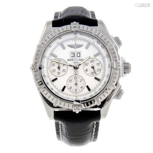 BREITLING - a gentleman's Windrider Crosswind Special chronograph wrist watch.