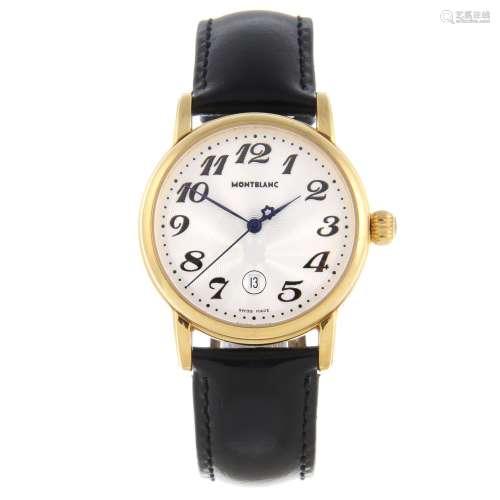 MONTBLANC - a mid-size Meisterstück wrist watch.