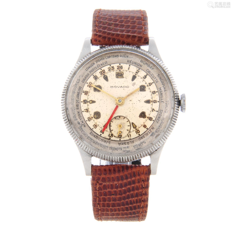 MOVADO - a gentleman's World Time wrist watch.