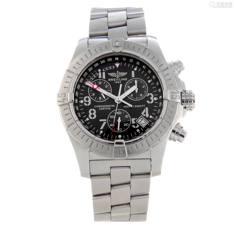 BREITLING - a gentleman's Aeromarine Avenger Seawolf chronograph bracelet watch.