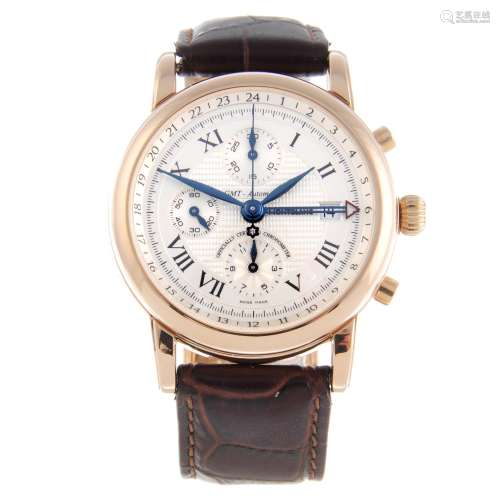 MONTBLANC - a gentleman's Star GMT chronograph wrist watch.
